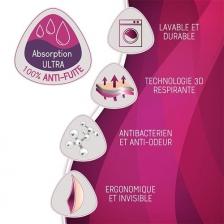 Lot de 4 coussinets d'allaitement lavables Essentiel JOUR Cache Coeur
