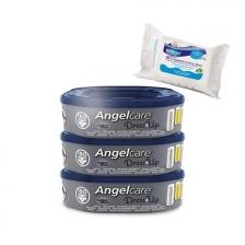 Angelcare Recharges Dress Up lot de 3 recharges octogonale + 30 Lingettes Milton antibactériennes OFFERTES !!