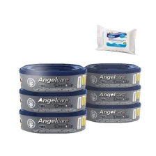 Angelcare Recharges Dress Up lot de 6 recharges octogonale + 30 Lingettes Milton antibactériennes OFFERTES !!