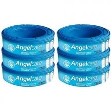 Angelcare Recharges Rondes lot de 6 recharges Classique + 30 Lingettes Milton antibactériennes OFFERTES !!