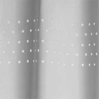 Rideau occultant Lune et Petites Etoiles Gris 140 x 260 cm Atmosphera