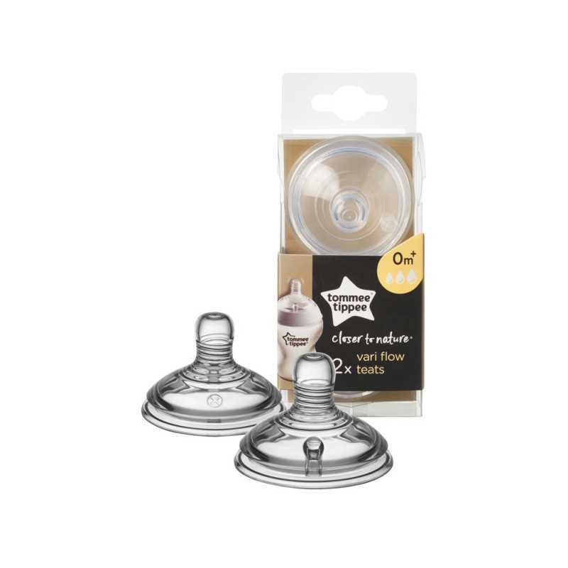 Lot de 2 tétines débit variable Tommee Tippee