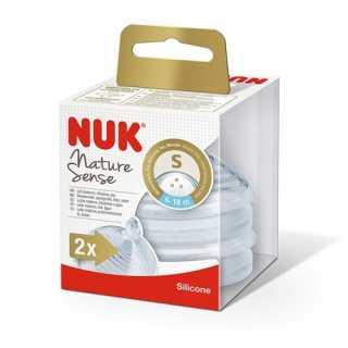 Lot de 2 tétines Nature Sense Taille S 6-18 mois Nuk