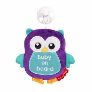 Bébé à Bord Panneau de Sécurité + Jouet Doux Fisher Price