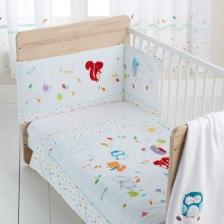 Parure de lit bébé 3 pièces Amis de la Fôret Silvercloud