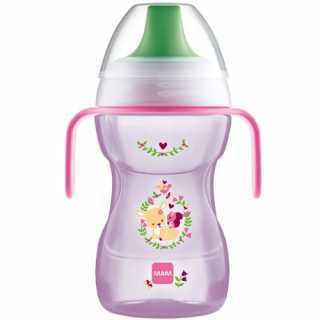 Mam Tasse à bec 270ml Rose 8m+