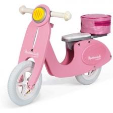 Draisienne Scooter en bois Rose Mademoiselle Janod