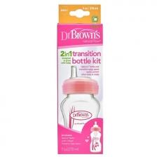 Biberon transition 270ml Rose Dr Brown's