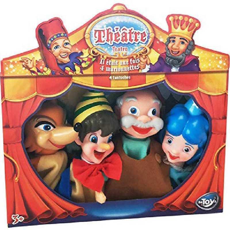 Marionnettes à main Théatre Pinoccio Be Toys