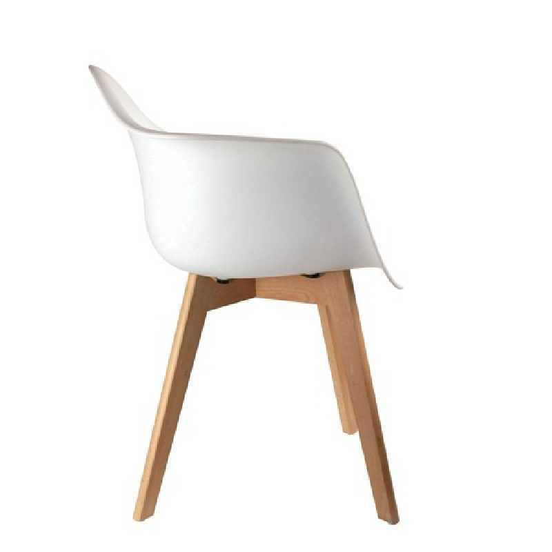 Fauteuil scandinave enfant Blanc The Home Deco Factory