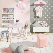 Table d'appoint enfant en bois MDF douceur Atmosphera Rose