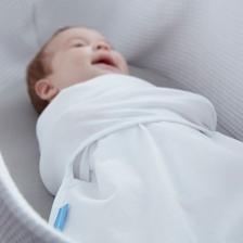 Lot de 2 Langes d'emmaillotage bébé Groswaddle Blanc 0-3 mois
