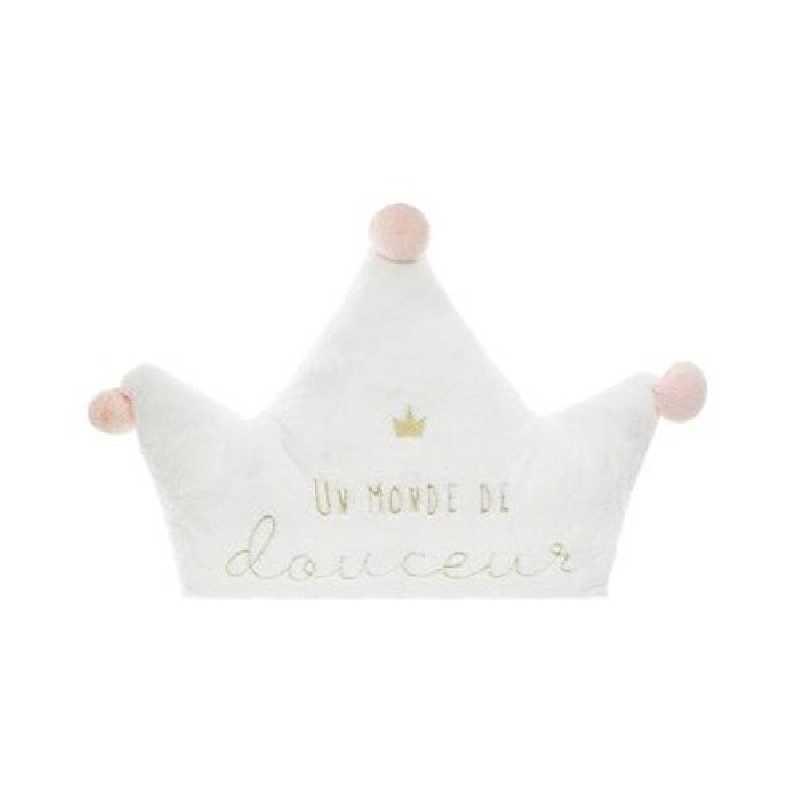 Coussin décoratif princesse Blanc Atmosphera