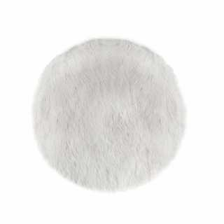 Tapis rond fourrure Blanc Atmosphera for kids