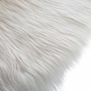Tapis rond fourrure Blanc Atmosphera for kids
