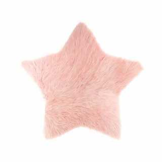 Tapis étoile fourrure Rose Atmosphera for kids