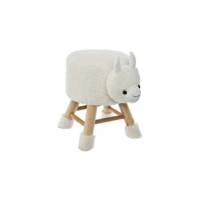 Tabouret pour enfant Mouton Blanc Atmosphera for kids