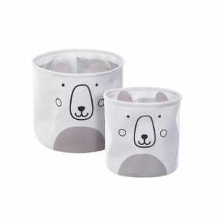 Lot de 2 bacs de rangement Ourson Atmosphera for kids