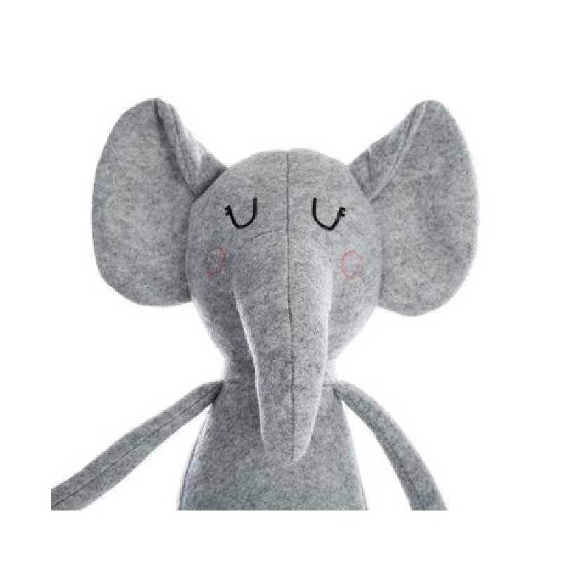 Peluche doudou éléphant gris Atmosphera for kids