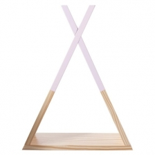 Etagère tipi - 30 x 39 x 10 cm - Pin - Rose Atmosphera