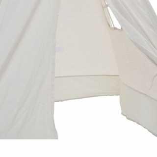 Tente de Jeu pour Enfant Tipi Blanc en Coton et Bois Babygloo