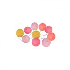 Guirlande Led Dream 10 boules Rose Atmosphera