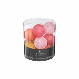 Guirlande Led Dream 10 boules Rose Atmosphera