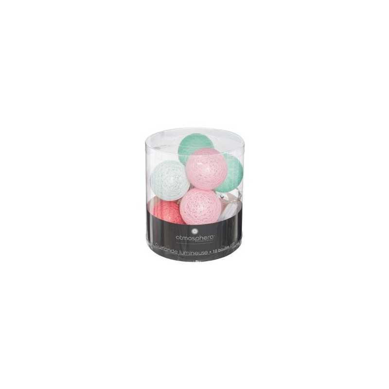 Guirlande Led Dream 10 boules Menthe Atmosphera