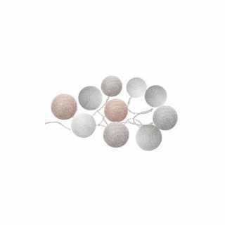 Guirlande Led Dream 10 boules Pastel Atmosphera