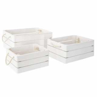 Lot de 3 caisse cagettes Dream Blanc Atmosphera for kids