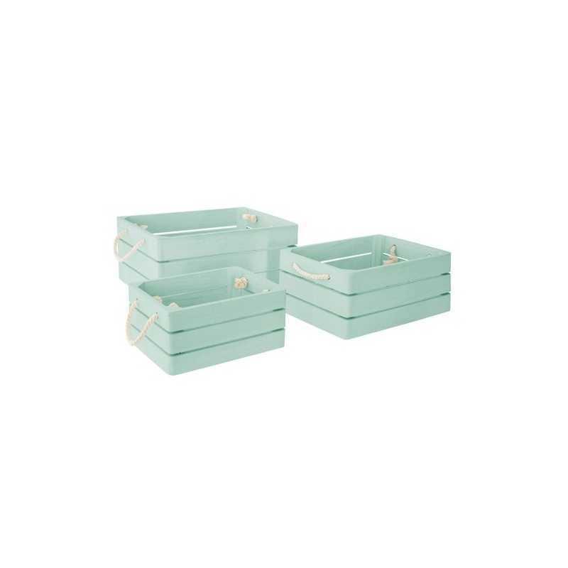 Lot de 3 caisse cagettes Dream Bleu Clair Atmosphera for kids