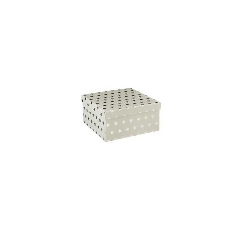 Lot de 3 boîtes de rangement carrées Argent Atmosphera for kids