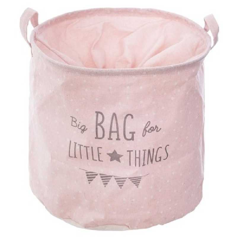 Sac de rangement canvas Rose Atmosphera for kids