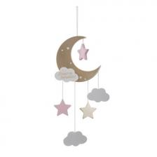 Suspension lune Rose Atmosphera for kids