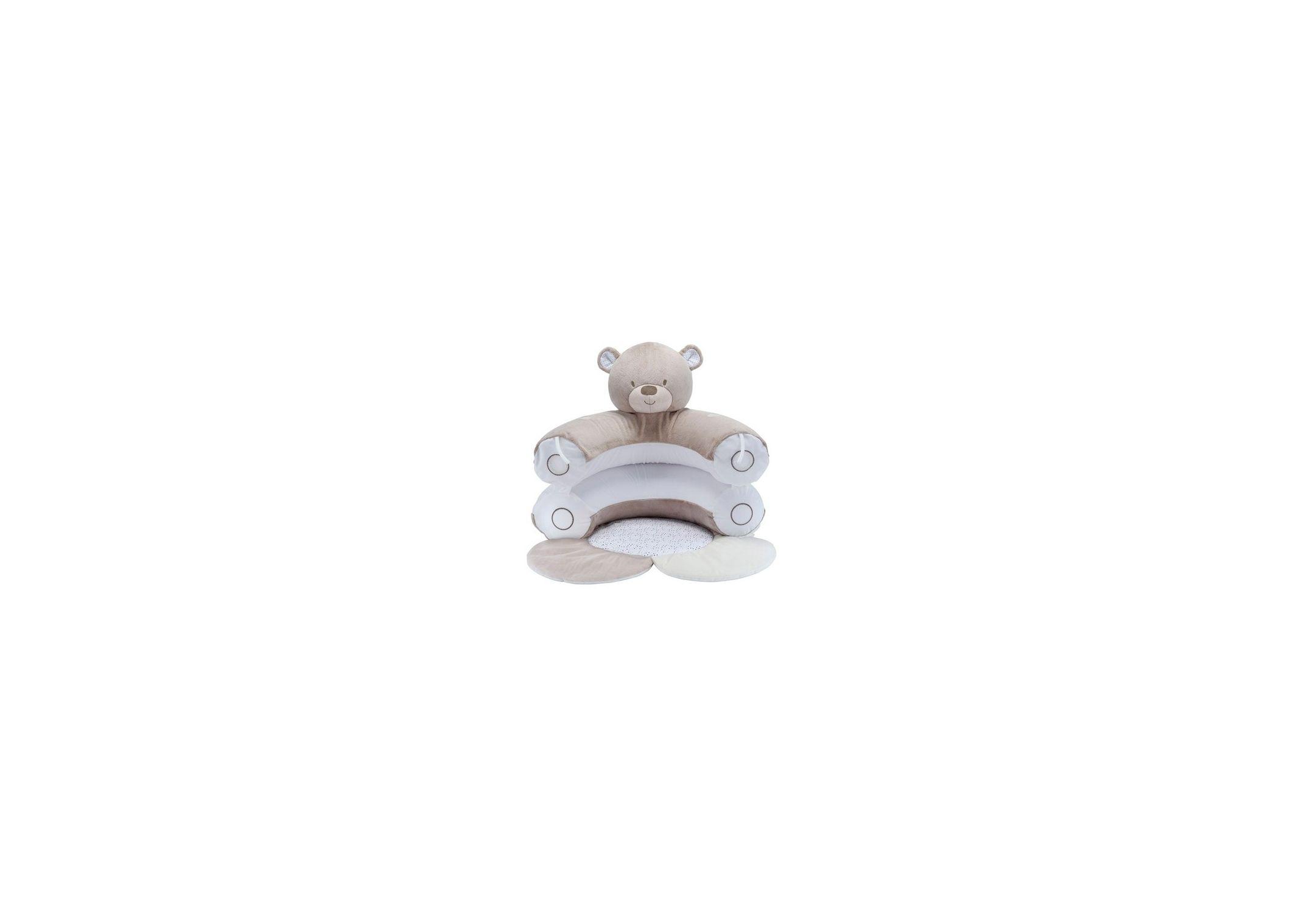 Fauteuil bébé - Tapis d'éveil ours en peluche Gris / Blanc Mothercare