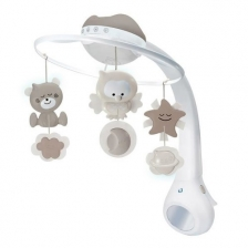 Veilleuse Mobile Douce Nuit 3 en 1 Taupe Infantino