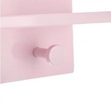 Lot de 3 patères étagères Nuage pour Enfant Coloris Rose