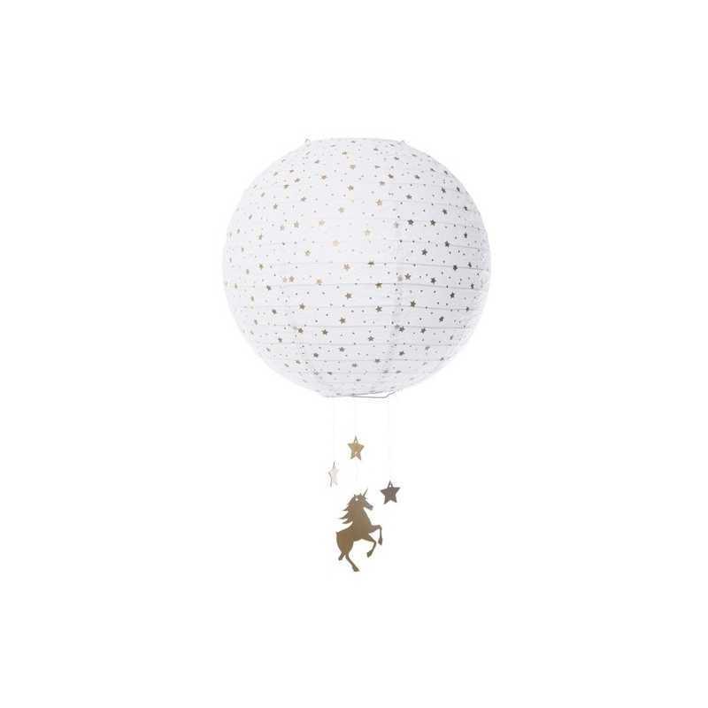 Lanterne boule Licorne D35 Atmosphera for kids
