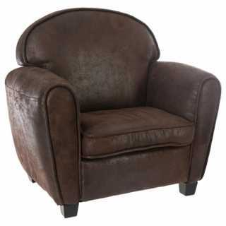 Fauteuil Club Marron Atmosphera for kids