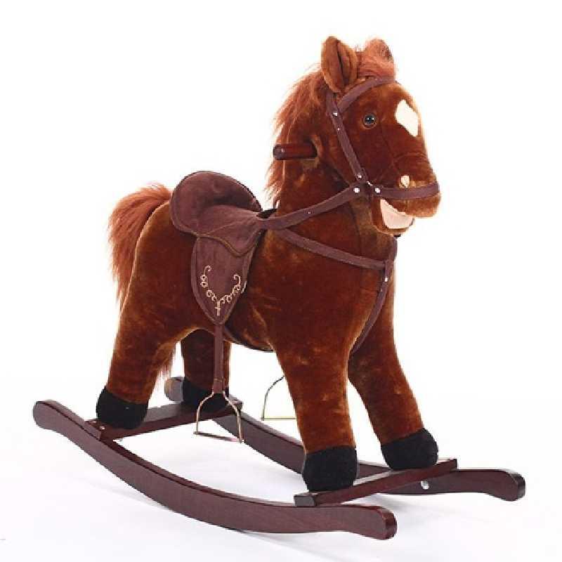 Petit Cheval à Bascule Trotteur en Bois