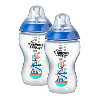 Lot de 2 biberons 340ml Bleu