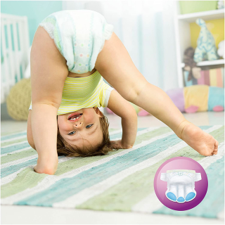 Pampers - Premium Protection - Couches Taille 4 (8-16 kg /Maxi) - Pack Economique 1 Mois de Consommation (x168 couches)
