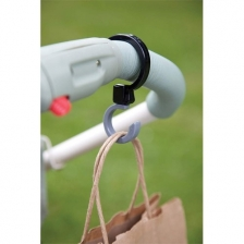 Crochets porte sac pour poussette Buggy Hooks Noir