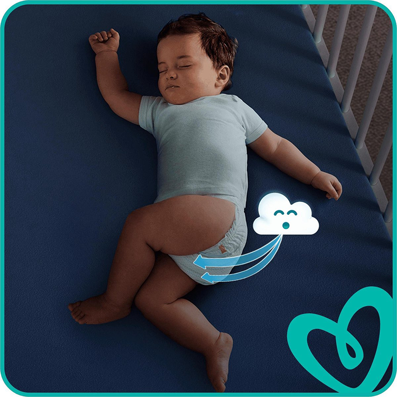 Pampers - New Baby Premium Protection - Couches Taille 3 (5-9 kg/Midi) - Pack Economique 1 Mois de Consommation (x204 couches)