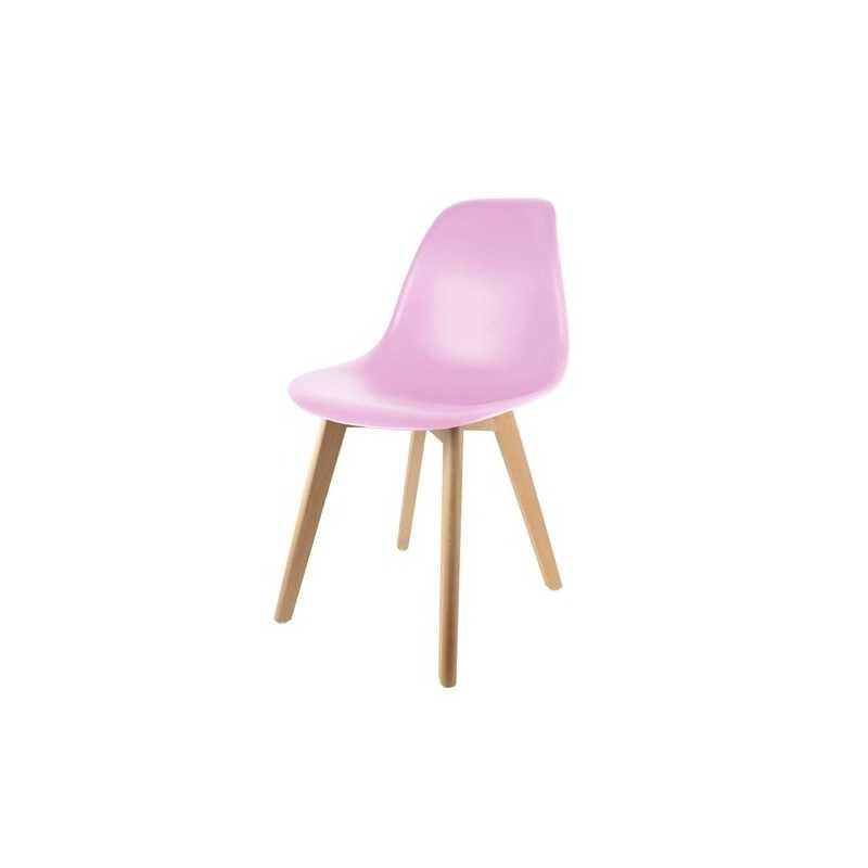 Chaise scandinave rose pour enfant