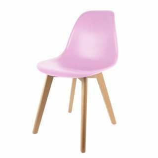 Chaise scandinave rose pour...