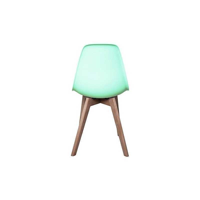 Chaise scandinave verte pour enfant