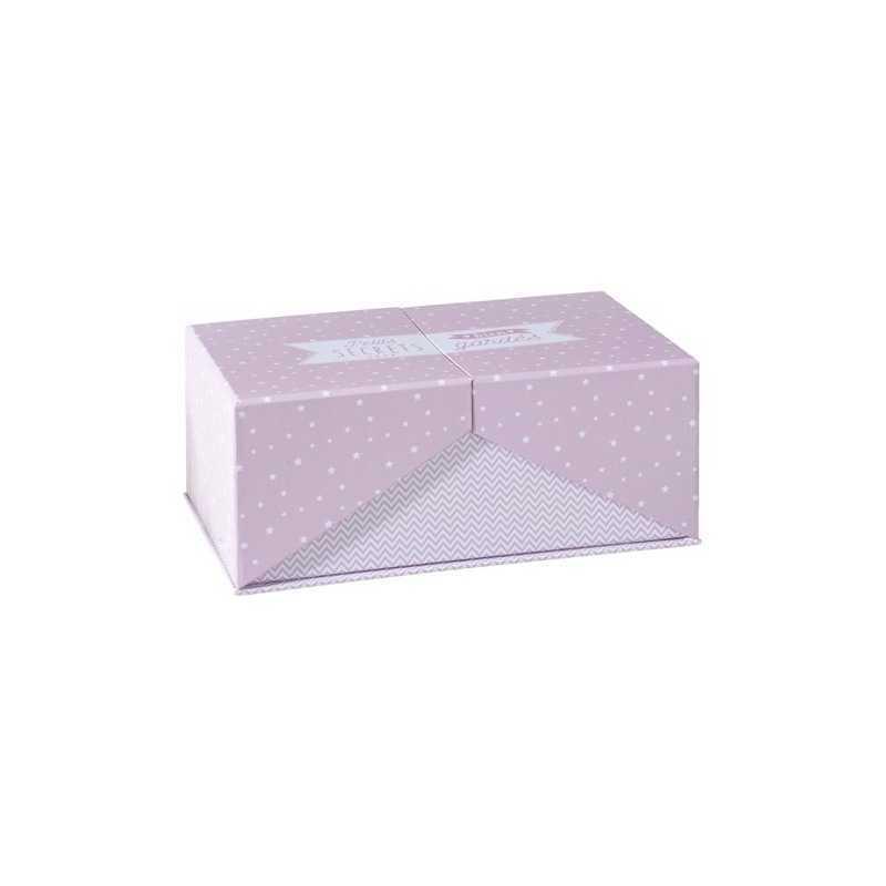 Set de 3 boîtes de rangements en carton Surprise Rose