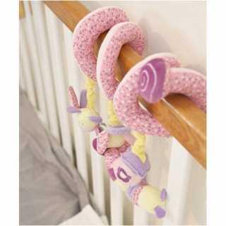 Spirale d'activités pour bébé Papillon Rose