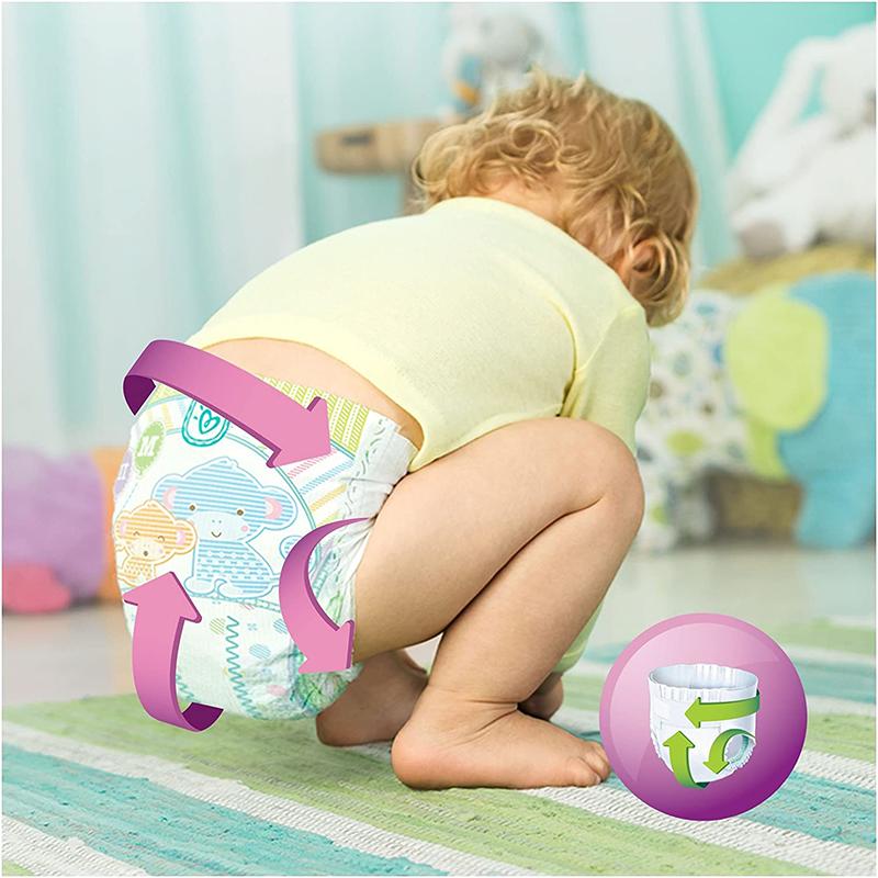 Pampers - Active Fit - Couches Taille 5 (11-23 kg/Junior) - Pack Economique 1 Mois de Consommation (x136 Couches)